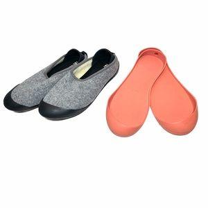 Mahabis Classic Unisex Grey Wool Slippers EU38 US8